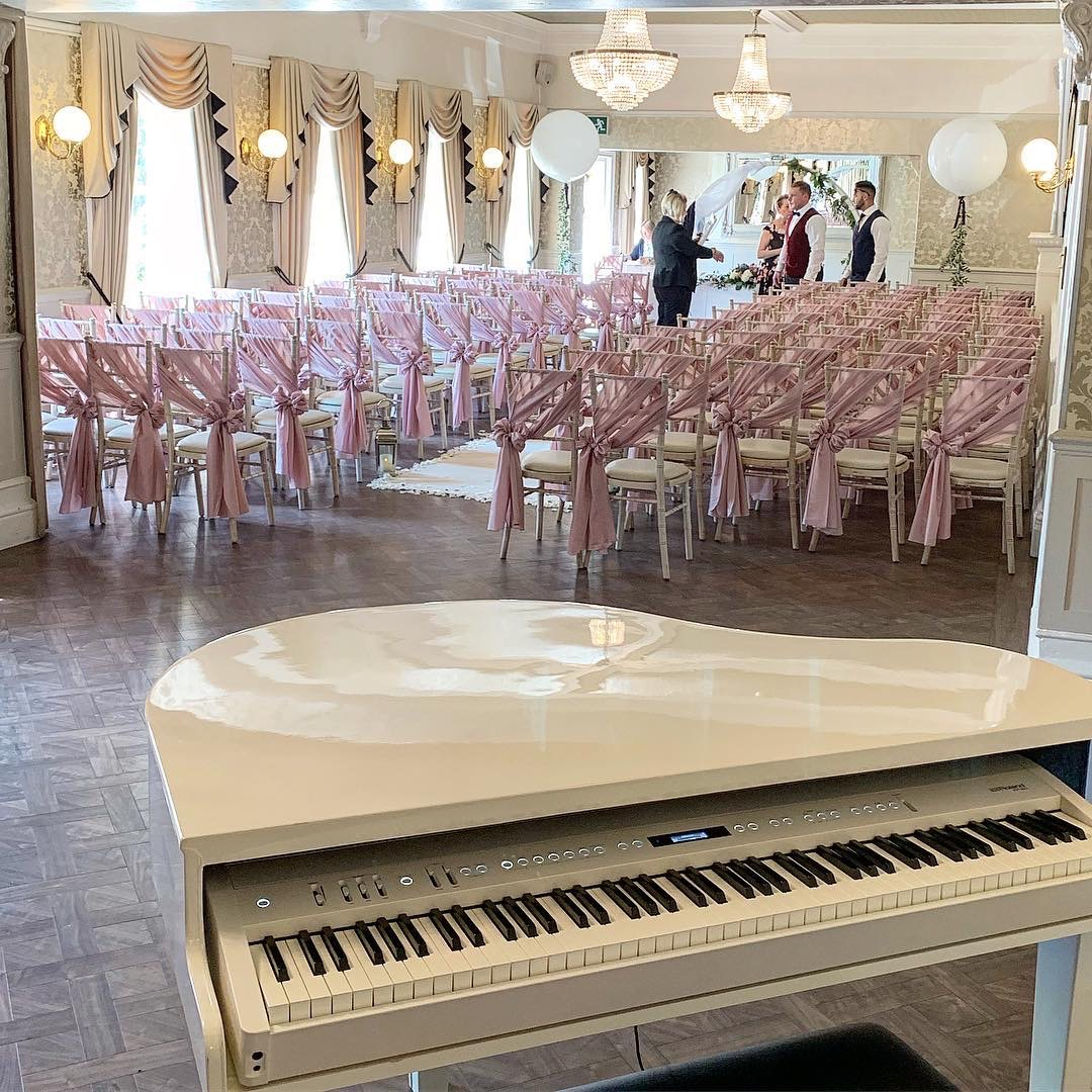 Wedding ceremony piano for Bartle Hall