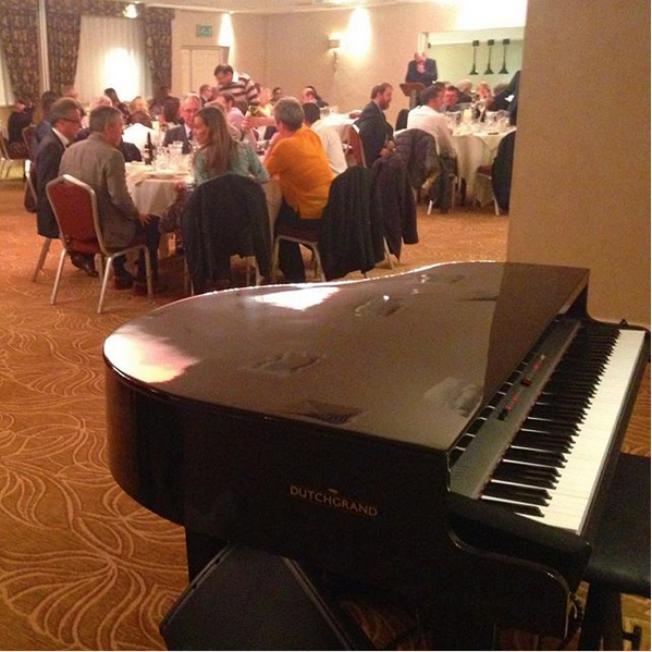 Wedding breakfast pianist for Barton Grange