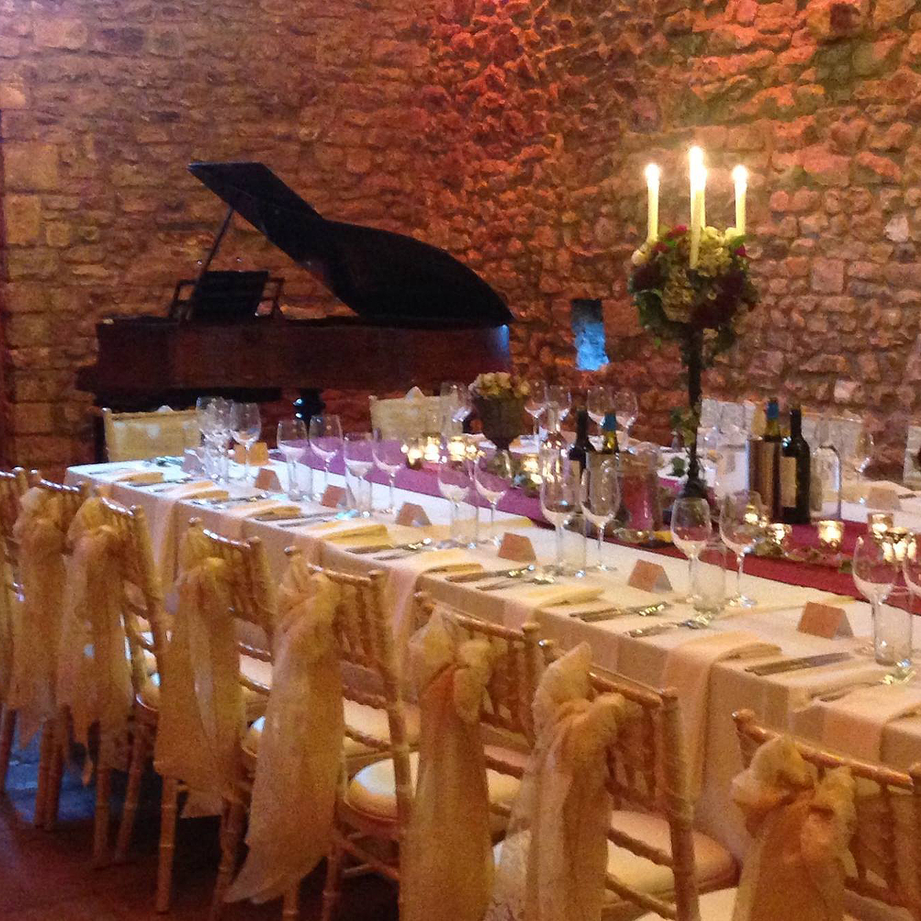 Browsholme Hall Wedding Breakfast Grand Piano Hire