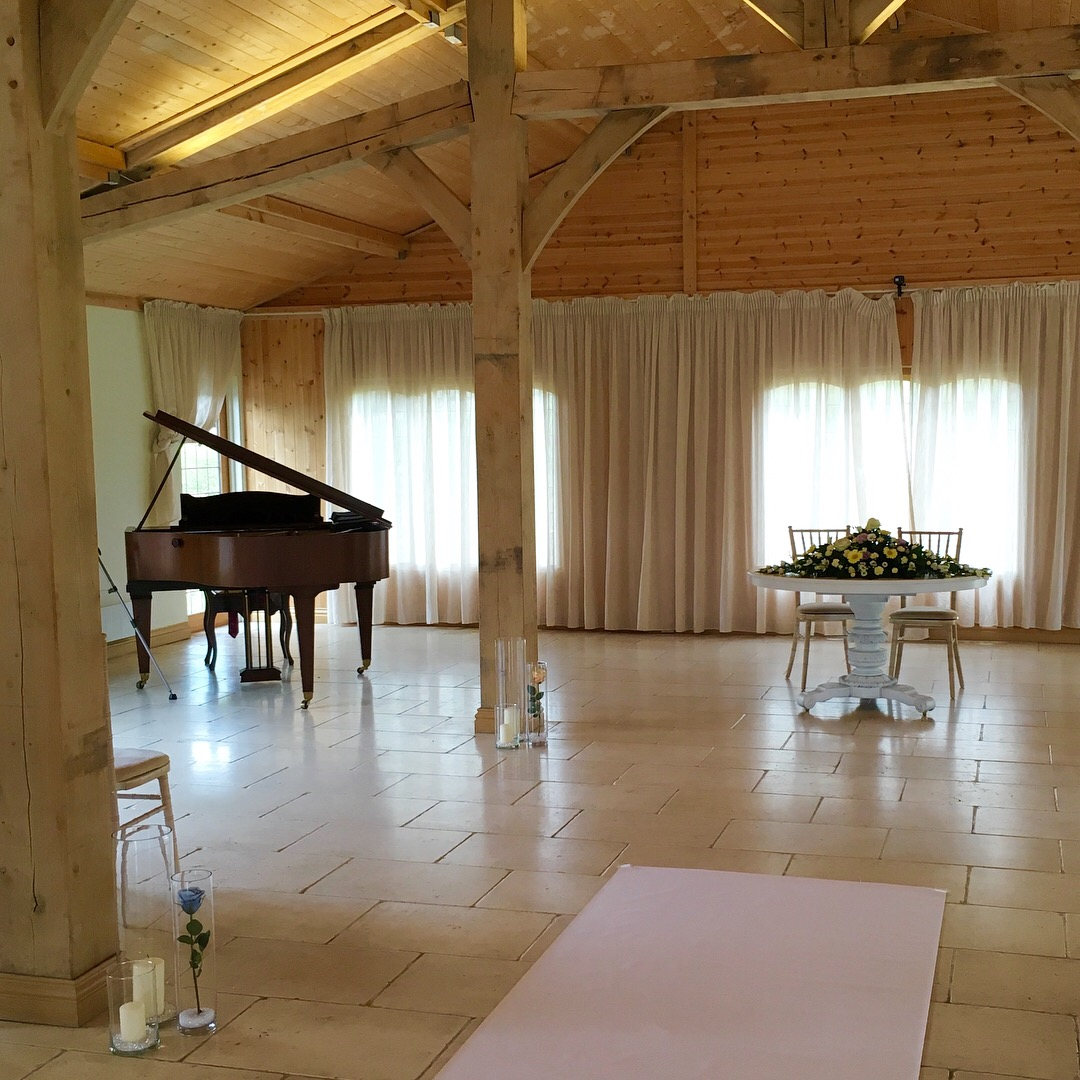 Wedding ceremony pianist for Colshaw Hall wedding ceremony piano