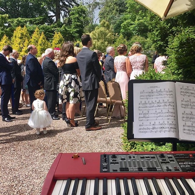Piano player for Ness Botanic Gardens Weddings