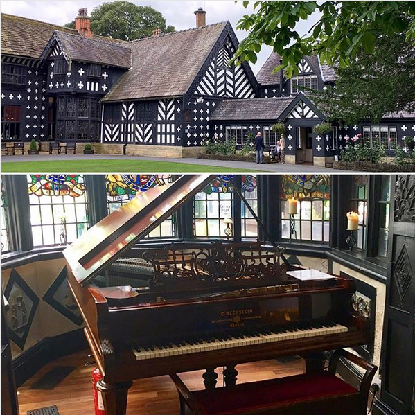 Samlesbury Hall wedding piano for wedding breakfasts