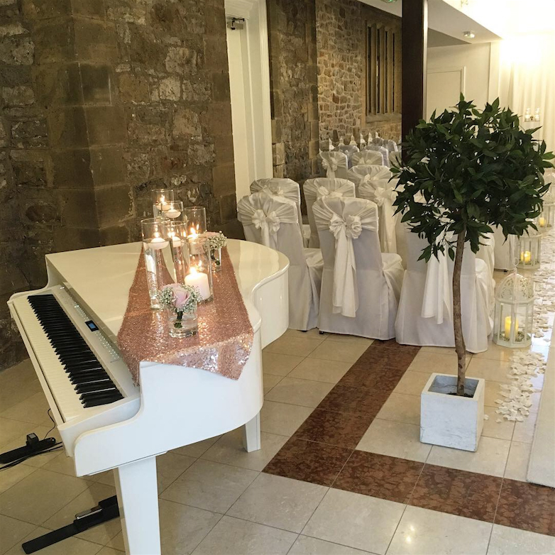 Stirk House wedding ceremony piano