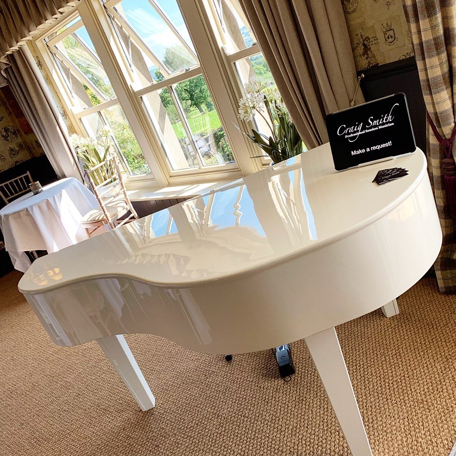White Piano Hire for Weddings in Lancashire